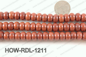 howlite rondelle brown 12mm HOW-RDL-1211