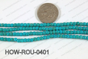 Howlite Round Turquoise 4mm HOW-ROU-0401