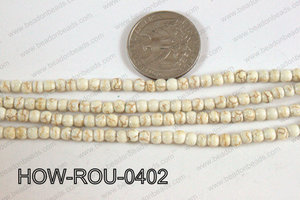 Howlite Round White 4mm HOW-ROU-0402