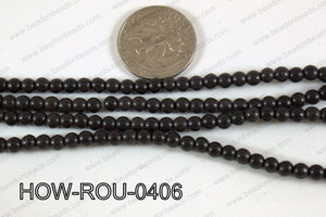 Howlite Round Black 4mm HOW-ROU-0406