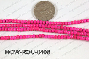 Howlite Round Hot Pink 4mm HOW-ROU-0408