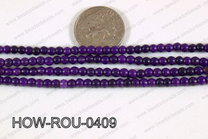 Howlite Round Purple 4mm HOW-ROU-0409