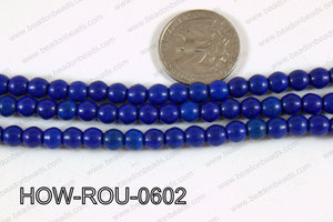 Howlite Round Dark Blue 6mm HOW-ROU-0602