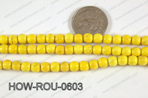 Howlite Round Yellow 6mm HOW-ROU-0603