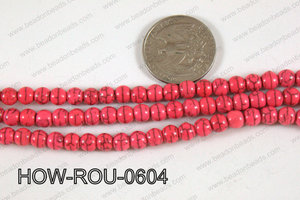 Howlite Round Pink 6mm HOW-ROU-0604