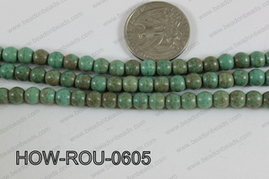 Howlite Round Turquoise 6mm HOW-ROU-0605