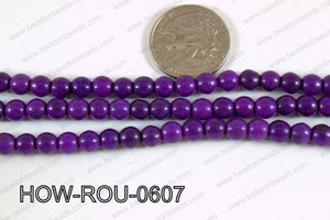 Howlite Round Purple 6mm HOW-ROU-0607