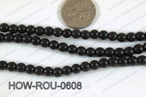 Howlite Round Black 6mm HOW-ROU-0608