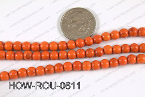Howlite Round Orange 6mm HOW-ROU-0611