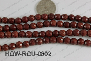 Howlite Round Faceted 32 cut Brown 8mm HOW-ROU-0802