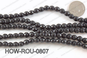 howlite round facted 48 cut black 8mm HOW-ROU-0807