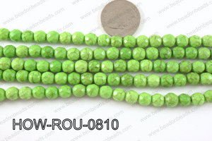 howlite round facted 48 cut green 8mm HOW-ROU-0810