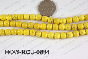 Howlite Round Yellow 8mm HOW-ROU-0884