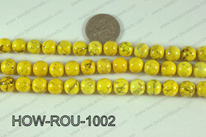 Howlite Round Yellow 10mm HOW-ROU-1002