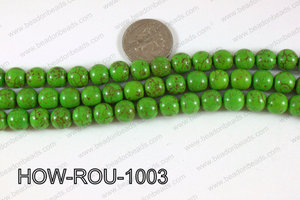 Howlite Round Green 10mm HOW-ROU-1003