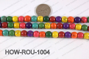 Howlite Round Multicolor 10mm HOW-ROU-1004