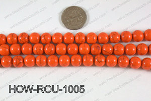 Howlite Round Orange 10mm HOW-ROU-1005