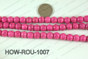 Howlite Round Hot Pink 10mm HOW-ROU-1007
