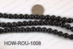 Howlite Round Black 10mm HOW-ROU-1008