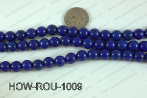 Howlite Round Dark Blue 10mm HOW-ROU-1009