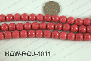 Howlite Round Pink 10mm HOW-ROU-1011