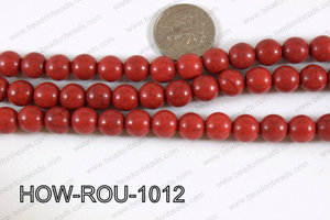 Howlite Round Red 10mm HOW-ROU-1012