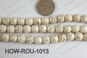 Howlite Round Faceted 32 cut White 10mm HOW-ROU-1013