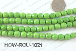 howlite round facted 32 cut green 10mm HOW-ROU-1021