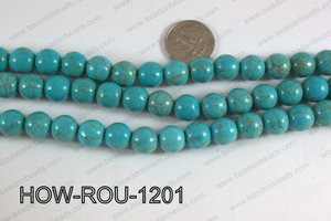 Howlite Round Turquoise 12mm HOW-ROU-1201