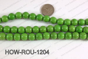 Howlite Round Green 12mm HOW-ROU-1204