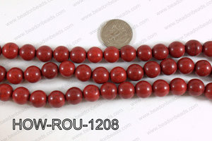 Howlite Round Dark Red 12mm HOW-ROU-1208