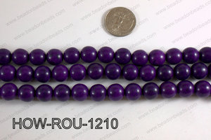Howlite Round Purple 12mm HOW-ROU-1210