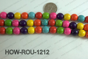 Howlite Round Multicolor 12mm HOW-ROU-1212
