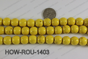 Howlite Round Yellow 14mm HOW-ROU-1403