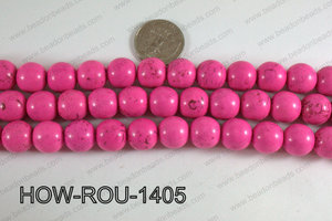 Howlite Round Hot Pink 14mm HOW-ROU-1405