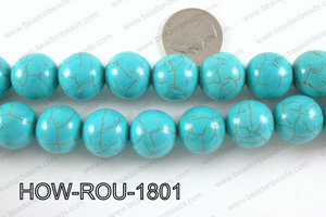 Howlite Round Turquoise 18mm HOW-ROU-1801