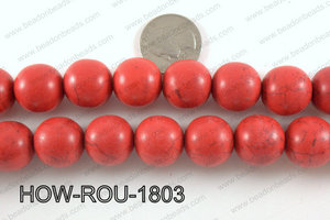 Howlite Round Red 18mm HOW-ROU-1803