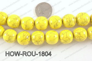 Howlite Round Yellow 18mm HOW-ROU-1804