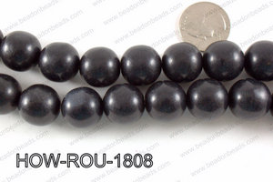 Howlite Round Black 18mm HOW-ROU-1808