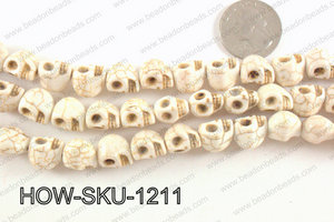 howlite skull cream 10x12mm HOW-SKU-1211