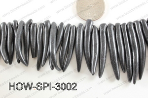 Howlite Spike Black 30x60mm HOW-SPI-3002
