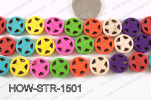 Howlite Star Multicolor 15mm HOW-STR-1501