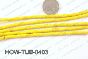 howlite tube yellow 4x4mm HOW-TUB-0403