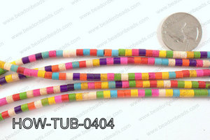 howlite tube multicolor 4x4mm HOW-TUB-0404