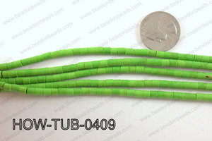 howlite tube green 4x4mm HOW-TUB-0409