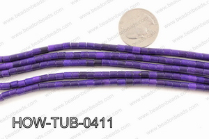 howlite tube purple 4x4mm HOW-TUB-0411