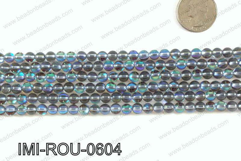 Imitation Labradorite 6mm IMI-ROU-0604