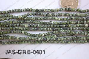 Jasper Green Round  4mm JAS-GRE-0401