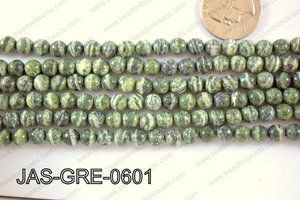 Jasper Green Round  6mm JAS-GRE-0601