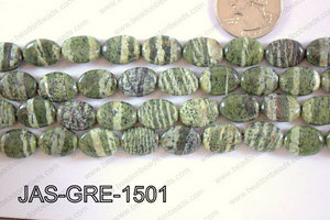 Jasper Green Oval  15x10mm JAS-GRE-1501